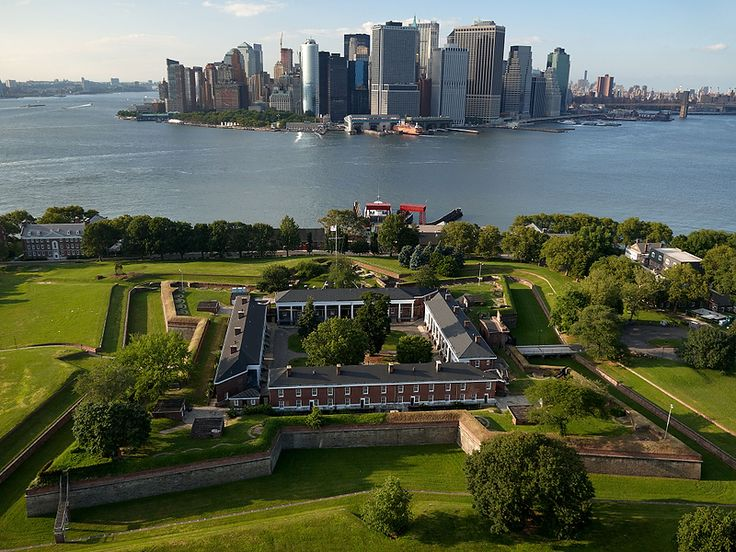 Governors Island National Monument, Manhattan, New York - The site's 22 acres of the 172 acres island, preserves Fort Jay, an Army post from 1794 to 1966, then a Coast Guard station from 1966 to 1996.