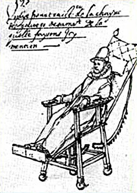 1595 A special wheelchair is built for King Phillip II of
