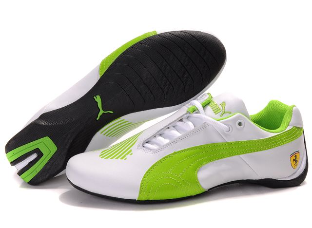 Puma Ferrari Shoes for Women | ... Puma Ferrari Big Cat Shoes :: White Green…
