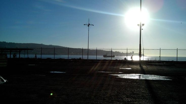 Bahía de Valparaíso , Plano Puerto(2014) , Chile.