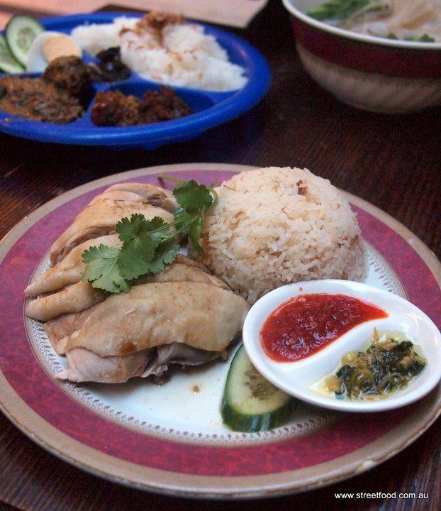 Street Food: Jimmy's Recipe ~ Malaysian ~ Hainanese chicken rice $8.80 - Galleries Victoria, City