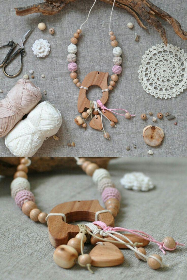 Слингобусы, мама-бусы, кормительные бусы, прорезыватель для зубов. Teething beads, wooden necklace, nursing necklace