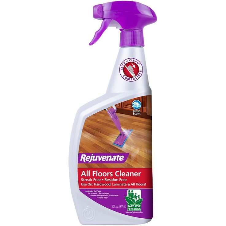 Rejuvenate 32 Oz Floor Cleaner Rjfc32rtu The Home Depot In 2020 Floor Cleaner How To Clean Laminate Flooring Laminate Flooring