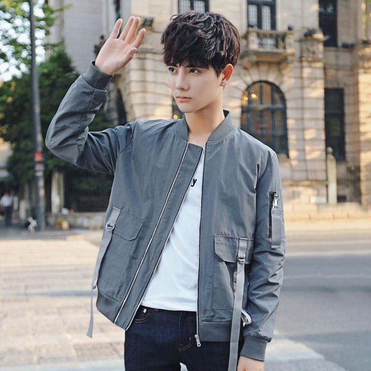 Korean New Men's Casual Jackets And Coats Solid Baseball Jerseys Jacket Men Slim Fit Autumn Youth Man Fashion Jaqueta Motoqueiro