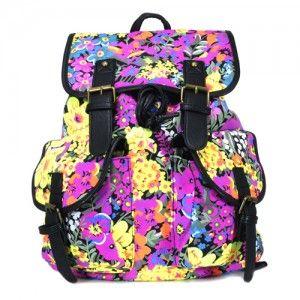 Plecak vintage Salomea /floral/ unisex