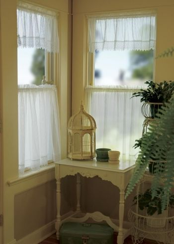 Chelsea Curtains By Heritage Lace In Ecru White And Flax