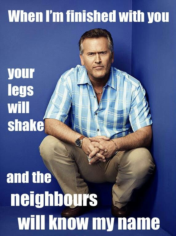 Cheeky Bruce Campbell meme.