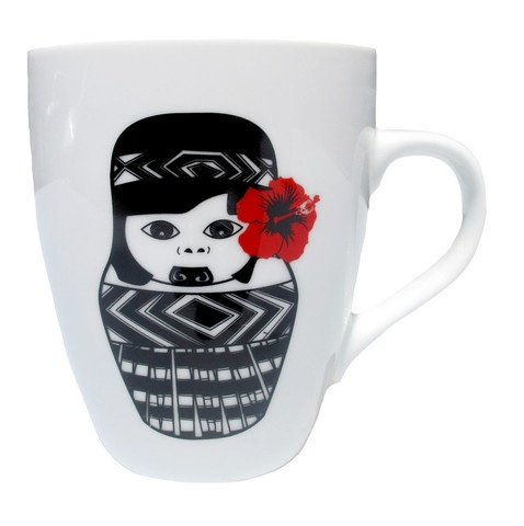 Maori Girl Coffee Mug by Tantrum Design