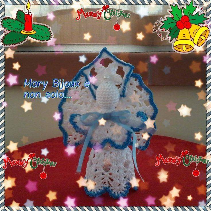 IL mio Angelo azzurro / Light blue angel or crocheted