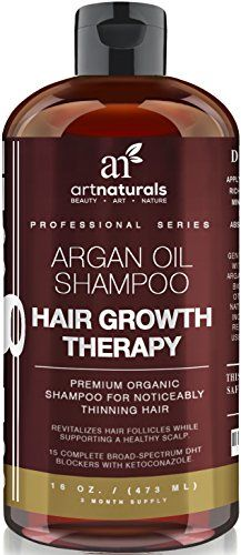 Art Naturals Organic Argan Oil Hair Loss Shampoo for Hair Regrowth 473ml - Sulfate Free - Best Treatment for Hair Loss, Thinning & Aging - Product For Men & Women - Infused with Biotin - 3 Month Supply