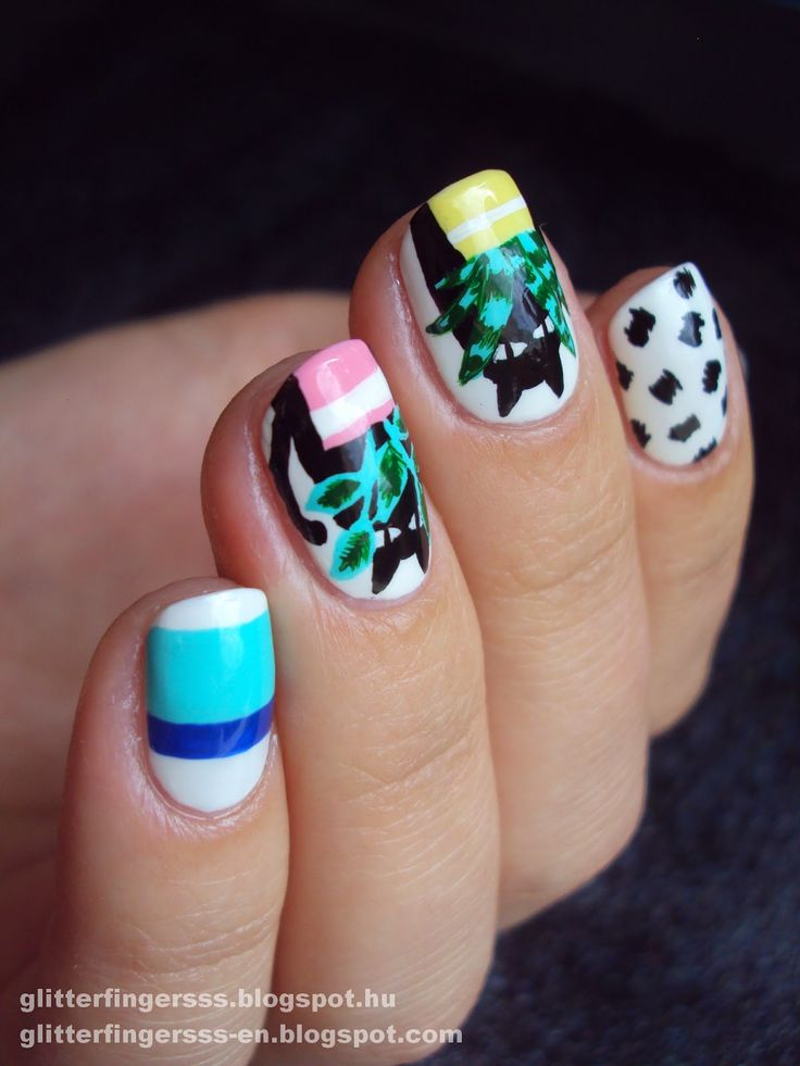 Мода на ногти | Карен Уолкер + учебник ~ Glitterfingersss на английском языке