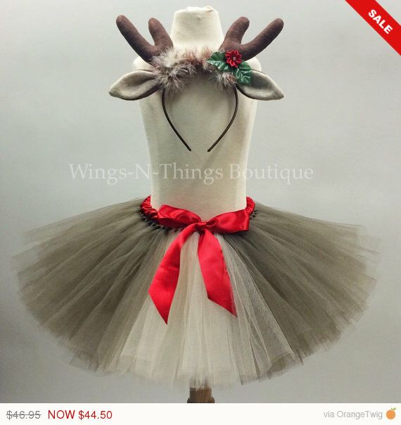 A personal favorite from my Etsy shop https://www.etsy.com/listing/254761403/reindeer-tutu-skirt-set-w-antler