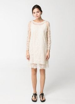 Embroidered tulle dress - Dresses - Women - MANGO