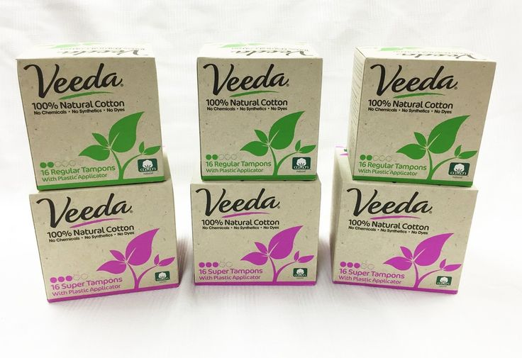 3 x Veeda Regular Tampons Applicator 16 Count   3 x Veeda Super Tampons Applicator 16 Count (The only #organic #toxicfree #tampon I can afford) LOVE THIS COMPANY - WhippedGreenGirl.com