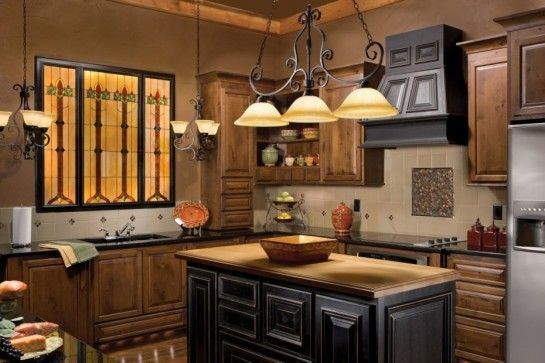 decoration outstanding kitchen island chandelier lighting with black distressed kitchen island ideas also stained glass panels