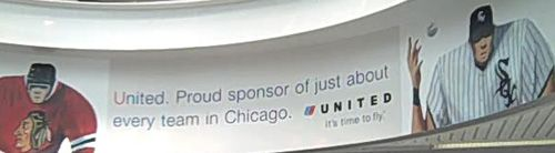 Nice local branding establishes United's roots in Chicago, and their support of great local teams.