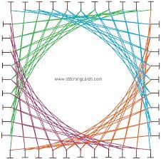 Картинки по запросу geometric string art patterns