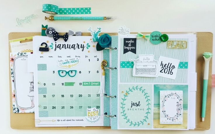 January 2016 in my Kaisercraft Journal Planner