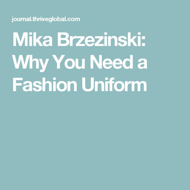 Mika Brzezinski: Why You Need a Fashion Uniform