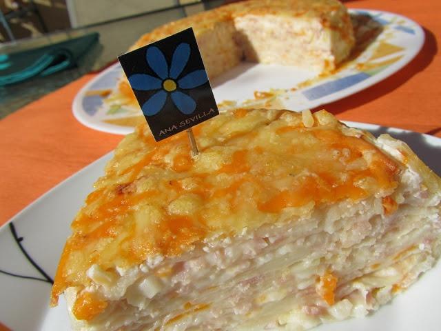 La Juani de Ana Sevilla: Tarta de jamón y queso