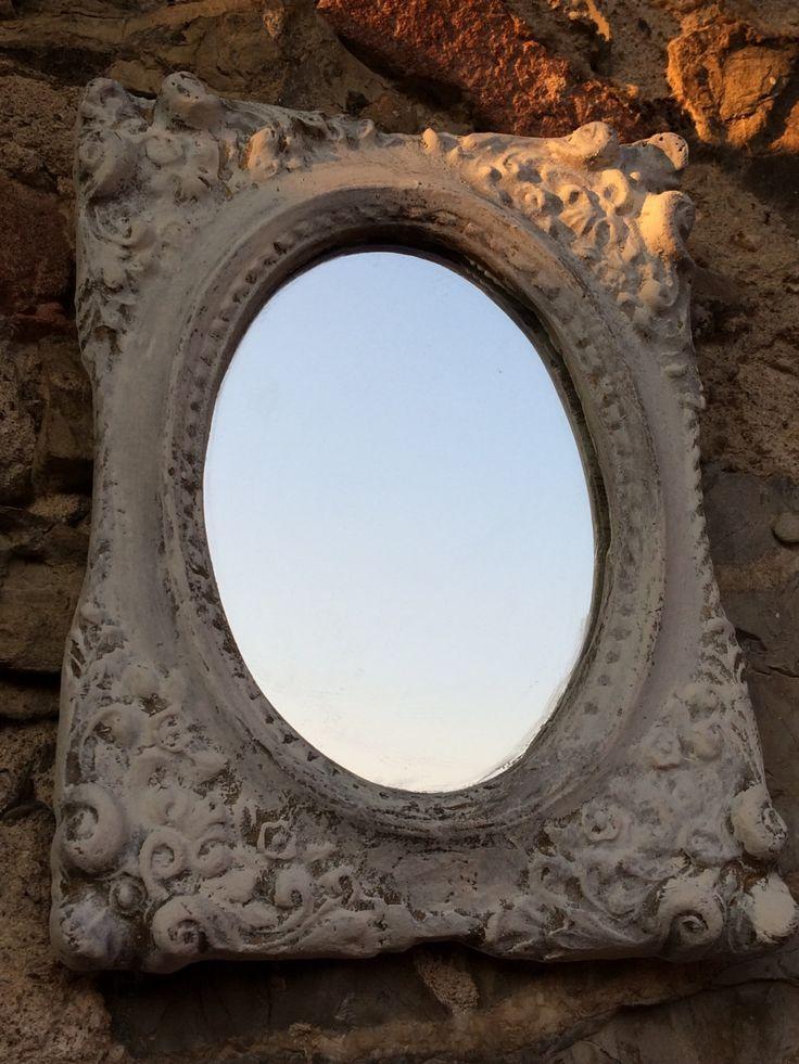 specchio shabby chic bianco Home decor vintage_baroque di LaLaRoomOfWonders su Etsy