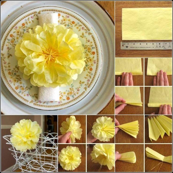 Como hacer flores de papel 6