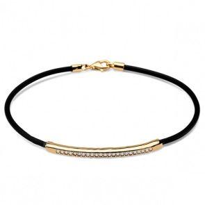 Bransoleta ze złotem i cyrkoniami - Biżuteria srebrna dla każdego tania w sklepie internetowym Silvea