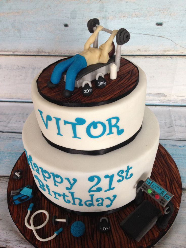 Gym Cake for 18th Birthday