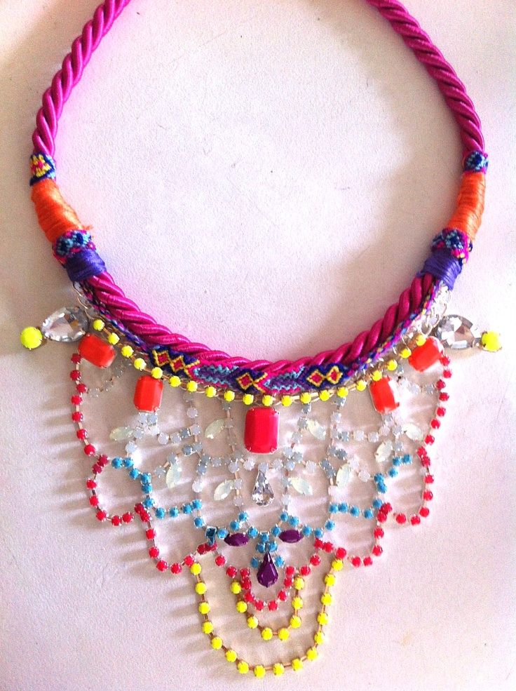 Handmade necklace by Madd Lola OOAK and available on feb 8 2013 when new collection 'Urban Happiness' launches