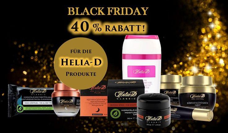 BLACK FRIDAY am 25.11.2016! Wir nehmen auch Teil! Es ist Zeit Helia-D kennen zu lernen!  40% für alle Helia-D Produkte, nur an diesem Tag! Nicht verpassen.... ;)  http://hungarianbeautyshop.com/webshop/category/helia-d_3
