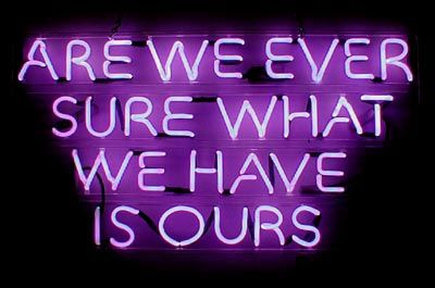 'Are We ever...' Neon by artist Robert Johnson