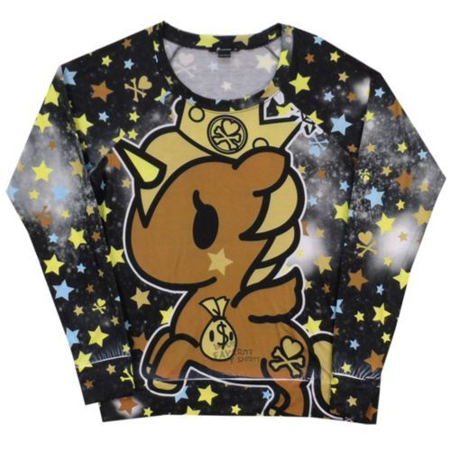 Tokidoki-Prima-Donna-Unicorno-Stars-Allover-Licensed-Woman-Junior-Shirt-S-XL