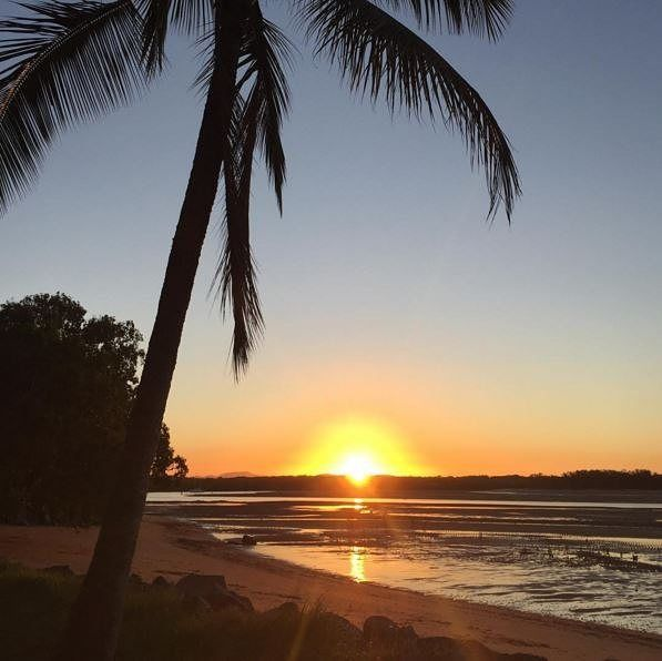 Slade Point Sunset #Mackay with #DiscoverQueensland Photo by @cherrieflea by discoverqueensland http://ift.tt/1UokkV2