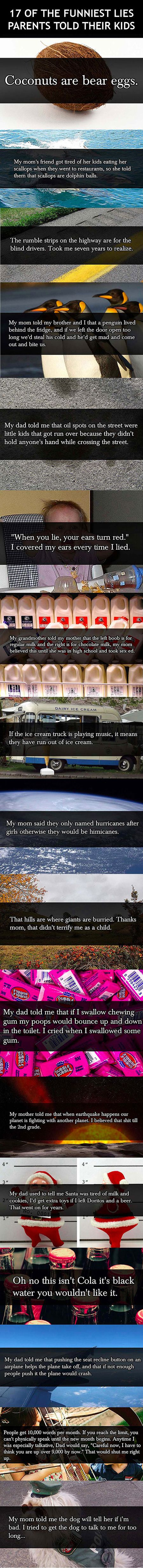 The funniest lies parents told their kids.