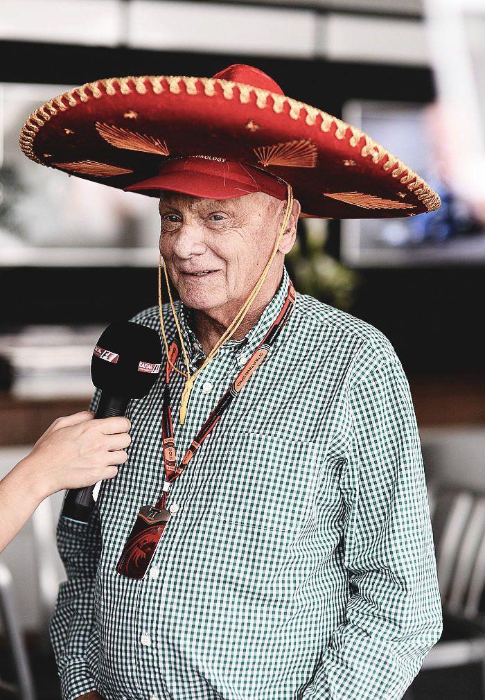 mr Sombrero ^ _ ^ Niki Lauda   Mercedes  team  / Messico 2015
