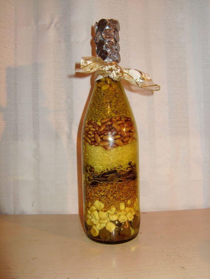 DIY Cómo hacer una botella de abundancia y prosperidad, para Año Nuevo