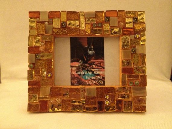 Photo frame. Golden glasses and precious by LelucciolediPapi