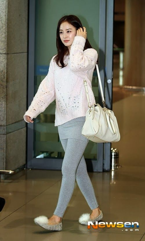 Kim tae hee Korean Airport Fashion