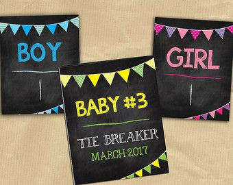 Baby 3 Pregnancy Announcement Third Baby Pregnancy by WiggleWords