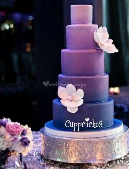 Tortas de matrimonio en Lima.  Degradé liso de Cupprichos Cupcakes | Foto 12