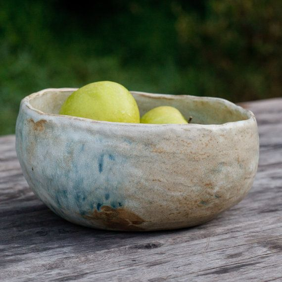 Large Ceramic Serving Bowl unearthed 110 by karanote on Etsy, $86.00