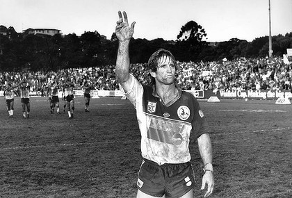 14. Des Hasler 1984-96 (255 games) Utility (halfback, hooker, lock) Des played in 309 matches in a first-grade career spanning 16 seasons. Most of his career was spent with the Manly-Warringah Sea Eagles, with whom he won two premierships (1987 and 1996). He subsequently coached Manly from 2004 to 2011, winning a further two premierships (2008 and 2011). As a player he also represented Australia internationally and New South Wales in State of Origin.