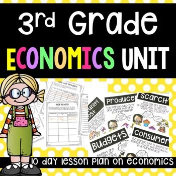 #onedaydollardealThis is a economics unit set to third grade standards. It could easily be applicable to second or forth grade!It covers:1. Scarcity2. Opportunity Costs3. Producers and Consumers4. Budgets5. Market PlacesIn the unit there is:1. 10 Day Lesson Plan2.