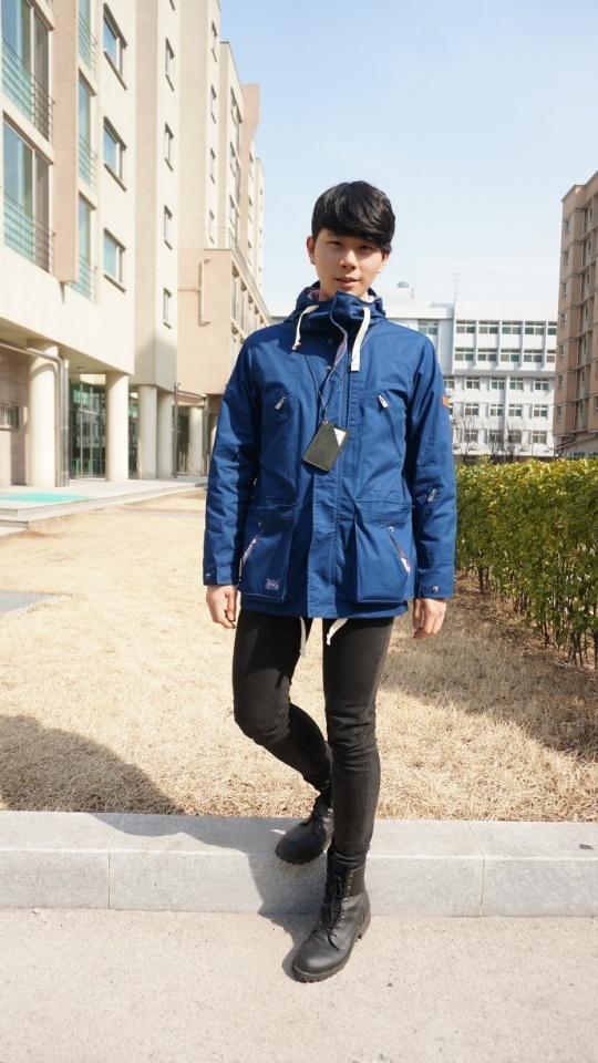 KALGOL blue jacket, men fashion, street style of korea www.seoulthespot.com