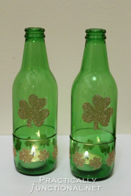 Practically Functional: Beer Bottle Candle Holders