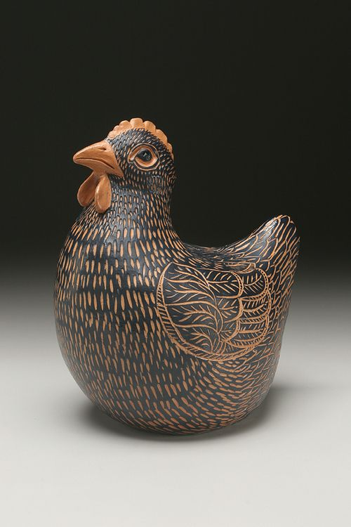 Ann Gleason - Lesson- teach sgraffito on handbuilt animal forms. Texture and pattern on form.