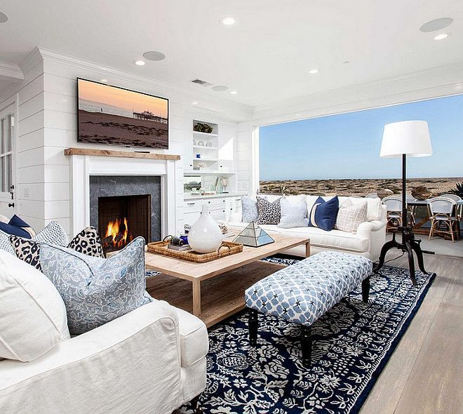 Living Room Coastal Furniture Small Layout Livingroom Smallspaces Blackband Design