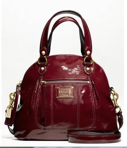 Me: Patent Leather, Colors Bags, Coach Handbags, Leather Coach Classy, Design Handbags, Bags Featgur, Purses Bags I, Leather Coachclassi, Coach Patent