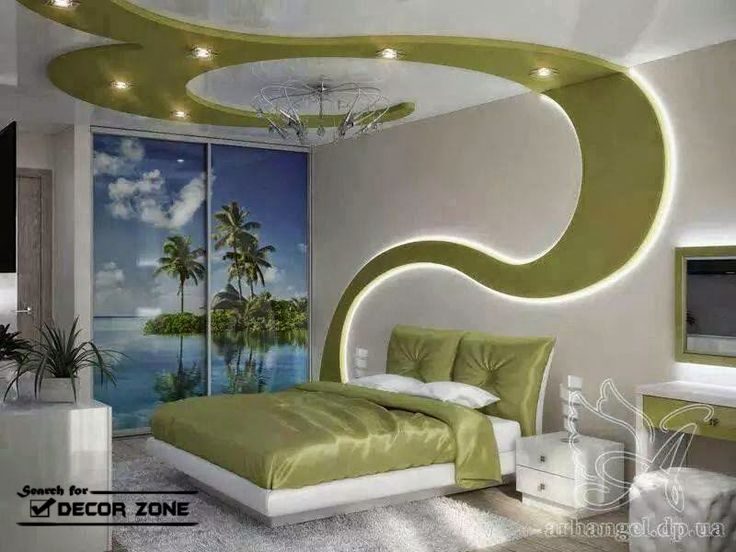 creative false ceiling designs for bedroom - drywall with led lights