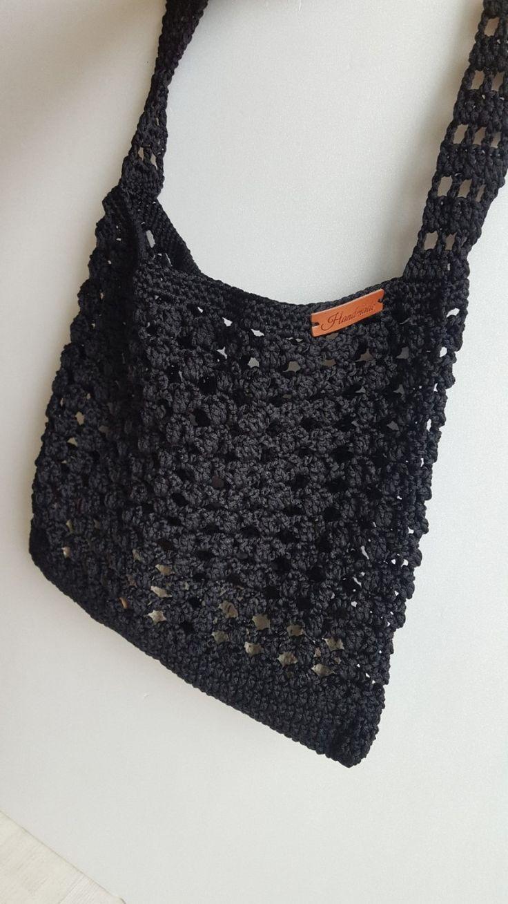 crochet net bag 코바늘 네트백 뜨기